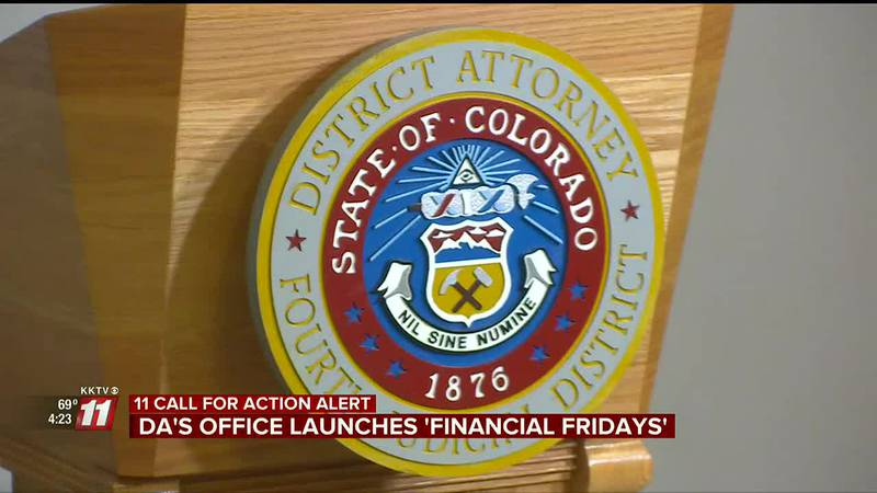 The DA's Office has started 'Financial Fridays'.