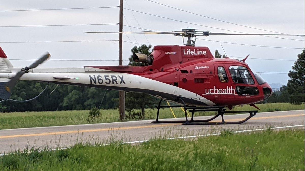 Crash on Highway 83 north of Colorado Springs 6/21/21.
