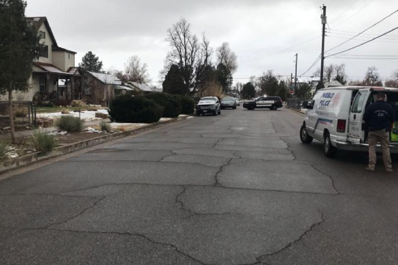 The scene of a shooting investigation in Pueblo on 11/24/20.
