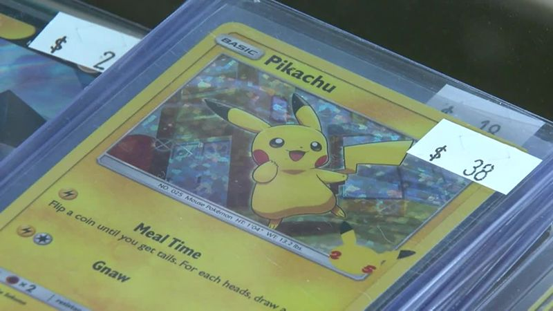 There's a boom in Pokemon trading card sales.