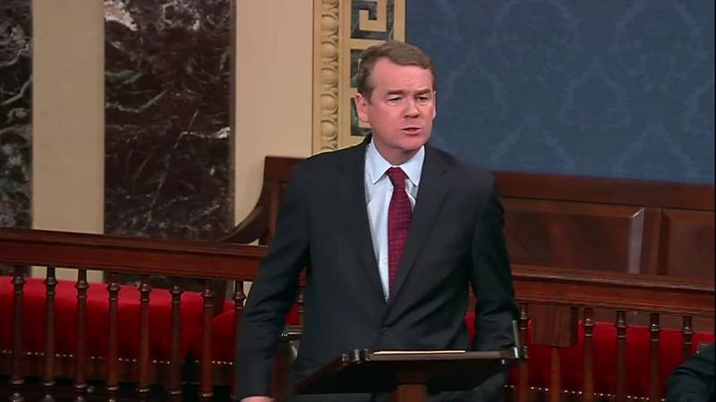 Democratic Sen. Michael Bennet of Colorado made the comments on the Senate floor.