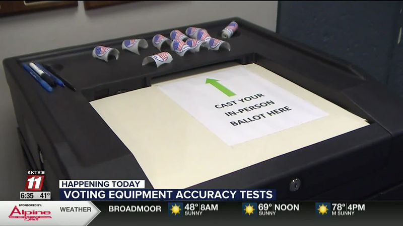 You can watch El Paso County test their vote counting machines today