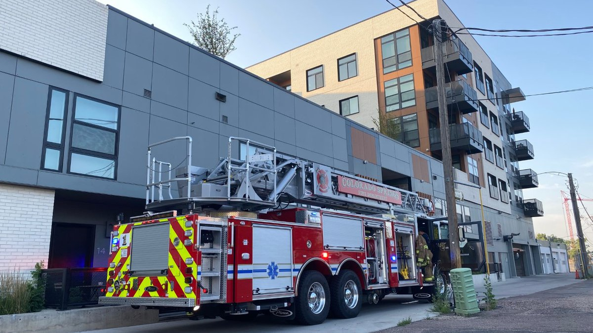 Storage unit fire underneath apartments in downtown Colorado Springs