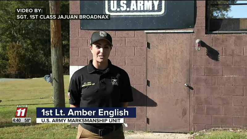Military greeting from 1st Lt. Amber English, a Colorado Springs native