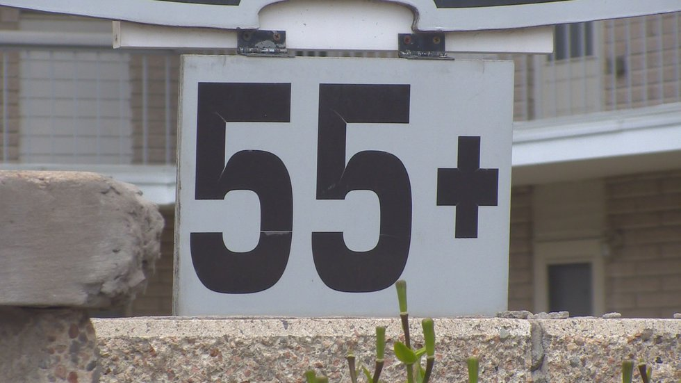 The '55+' sign still hung outside Arcadia Plaza Apartments, even after the new property...
