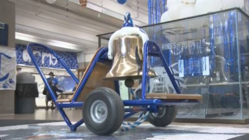 The Bell sitting at Central High.