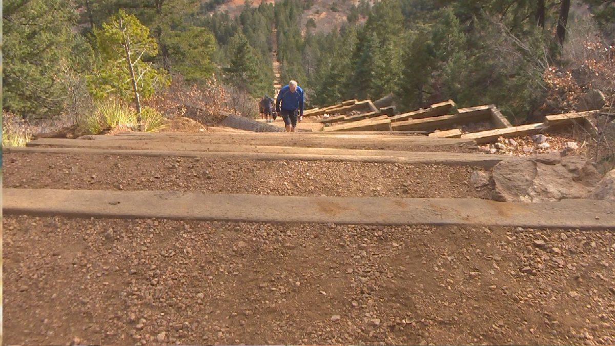 The Manitou Incline located in Manitou Springs, Colorado.  Photo by KKTV.