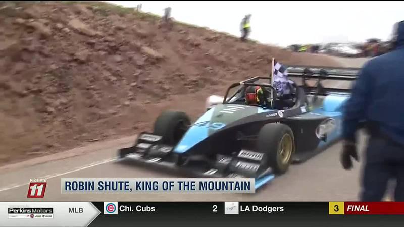 """Robin Shute again reigns as """"King of the Mountain"""" at 99th Pikes Peak International Hill Climb"""