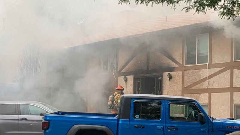 A townhome fire in Colorado Springs 6/21/21.