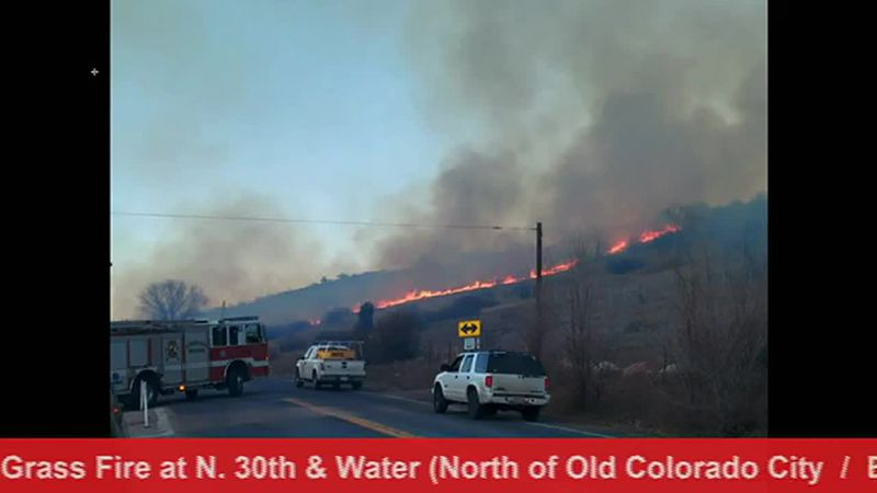 Colorado Springs grass fire Jan. 20