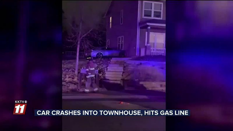 WATCH: Suspected drunk driver crashes into Colorado Springs townhome, hits gas meter