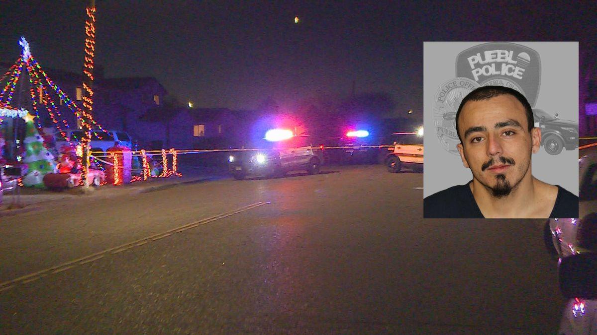 Ricardo Gomez (photo inset) is accused of shooting a man in a northwest Pueblo neighborhood on...