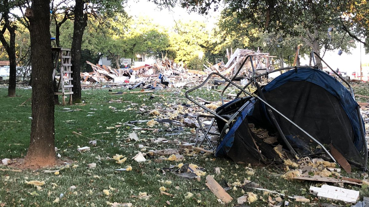 The aftermath of a horrific explosion in northeast Oklahoma City Sept. 24, 2020.