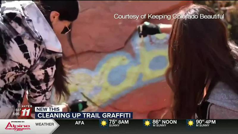 Park rangers seeing more graffiti on trails; volunteers cleaning it up