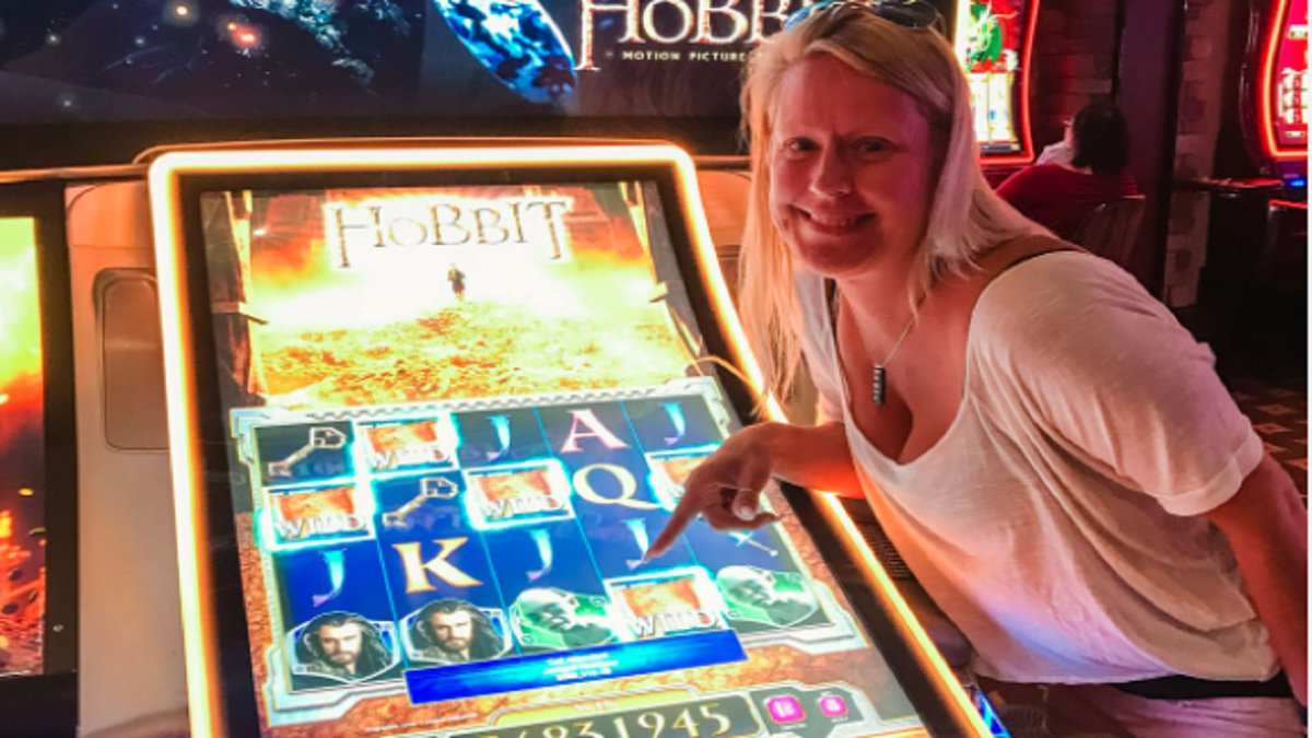 A woman named Megan won $568,319.45 jackpot playing The Hobbit slot machine at Wildwood Casino...