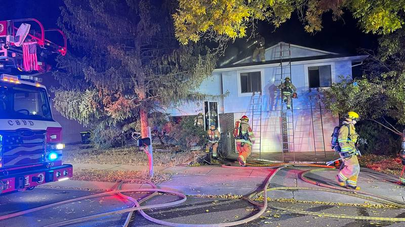 Colorado Springs Fire department responded to a fire at a possible vacant house just after 2...