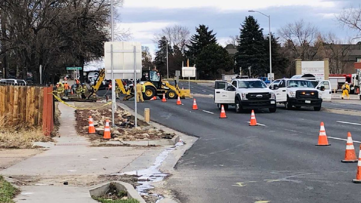 Gas leak in Colorado Springs on 3/10/20 along Circle Drive.
