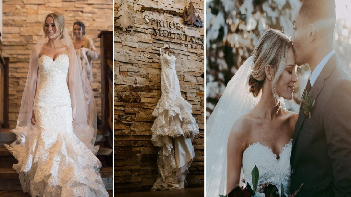 Wedding dress stolen during burglary in Colorado Springs.  Photos courtesy: Rachell Monteleone...