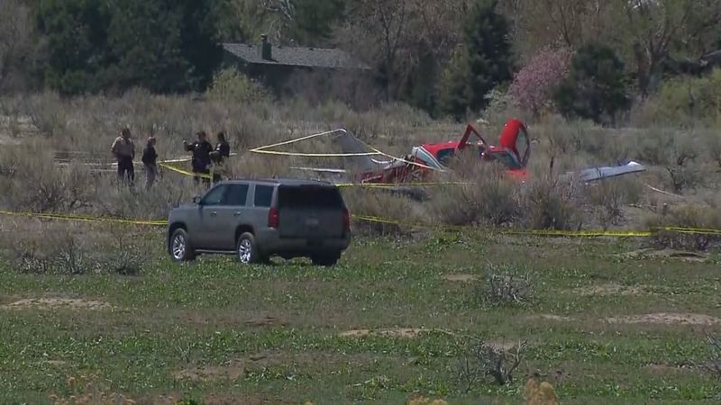 Officials said one of the planes landed in a field near the Cherry Creek Reservoir using a...