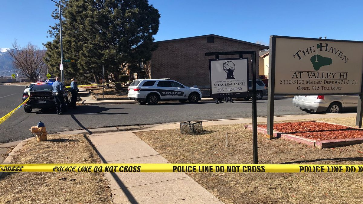 Shooting scene in Colorado Springs Jan. 28, 2020.