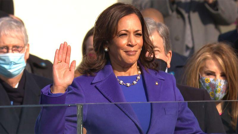 Kamala Harris was sworn in as vice president on Wednesday.