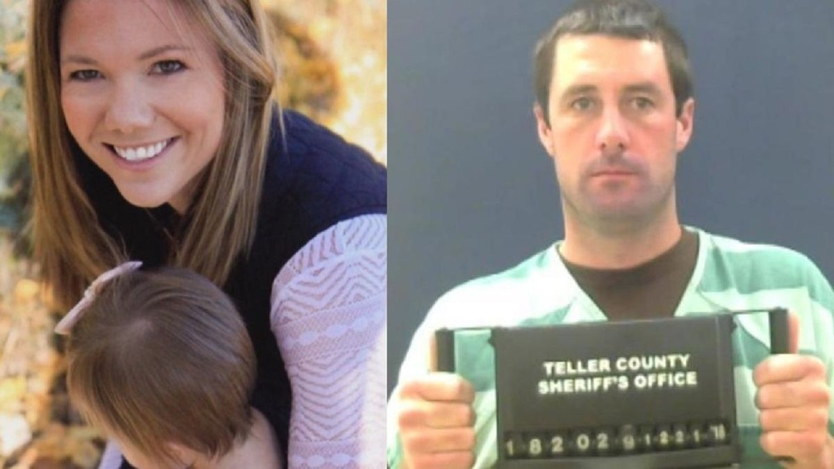 Left to right: undated photo of Kelsey Berreth with her daughter, Patrick Frazee on 12/21/18 after his arrest.