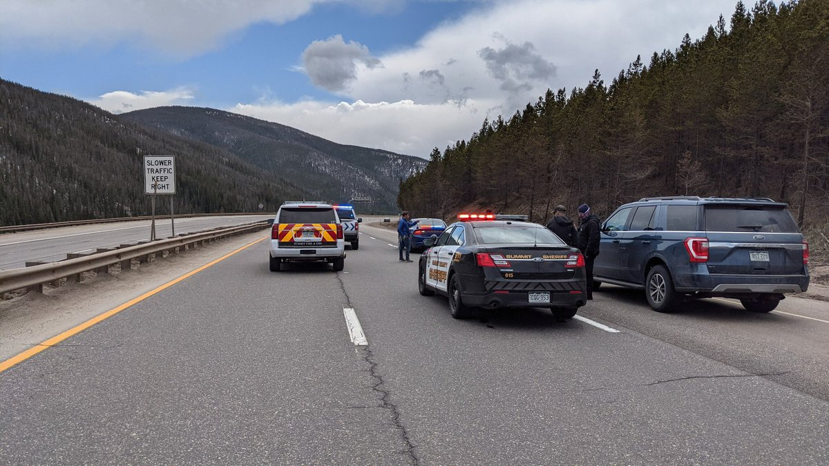 The interstate was closed in both directions between Silverthorne and the Eisenhower Tunnel...