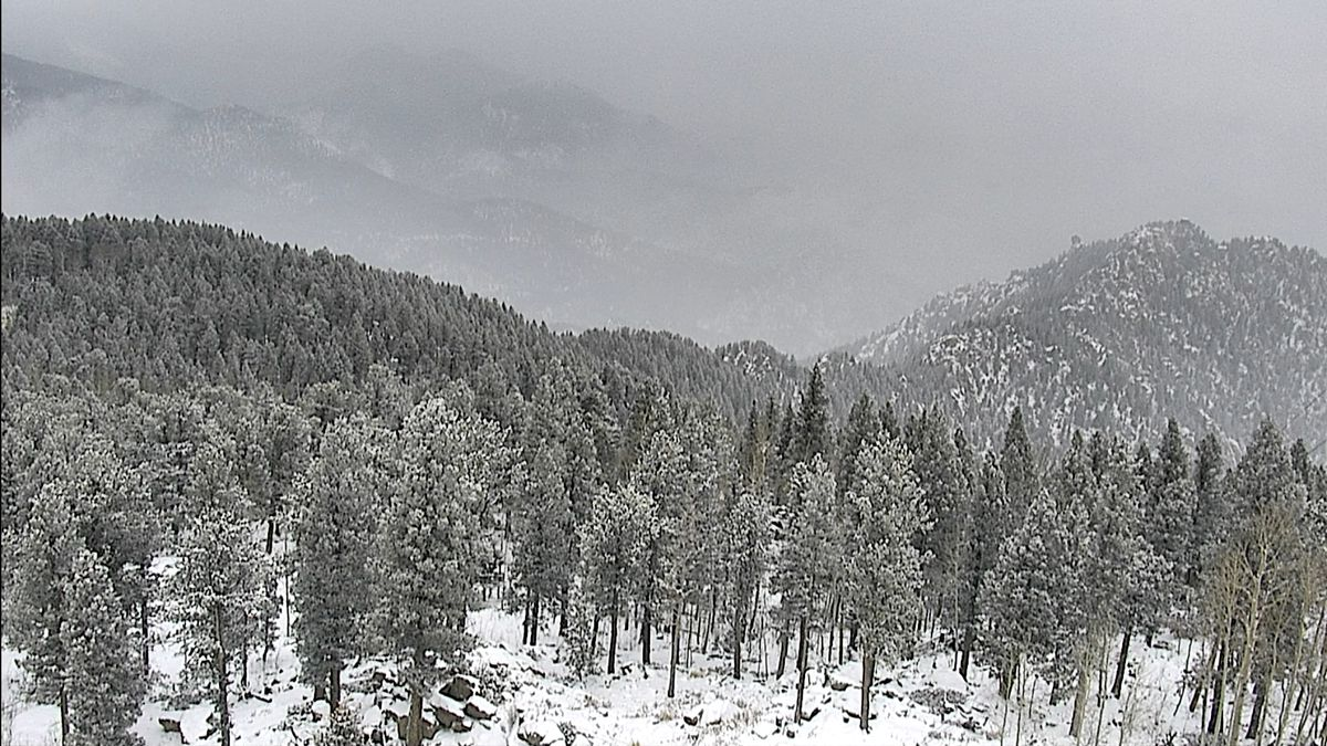 Cheyenne Mountain on the southwest side of the Springs o a brutally cold Valentine's Day 2021.