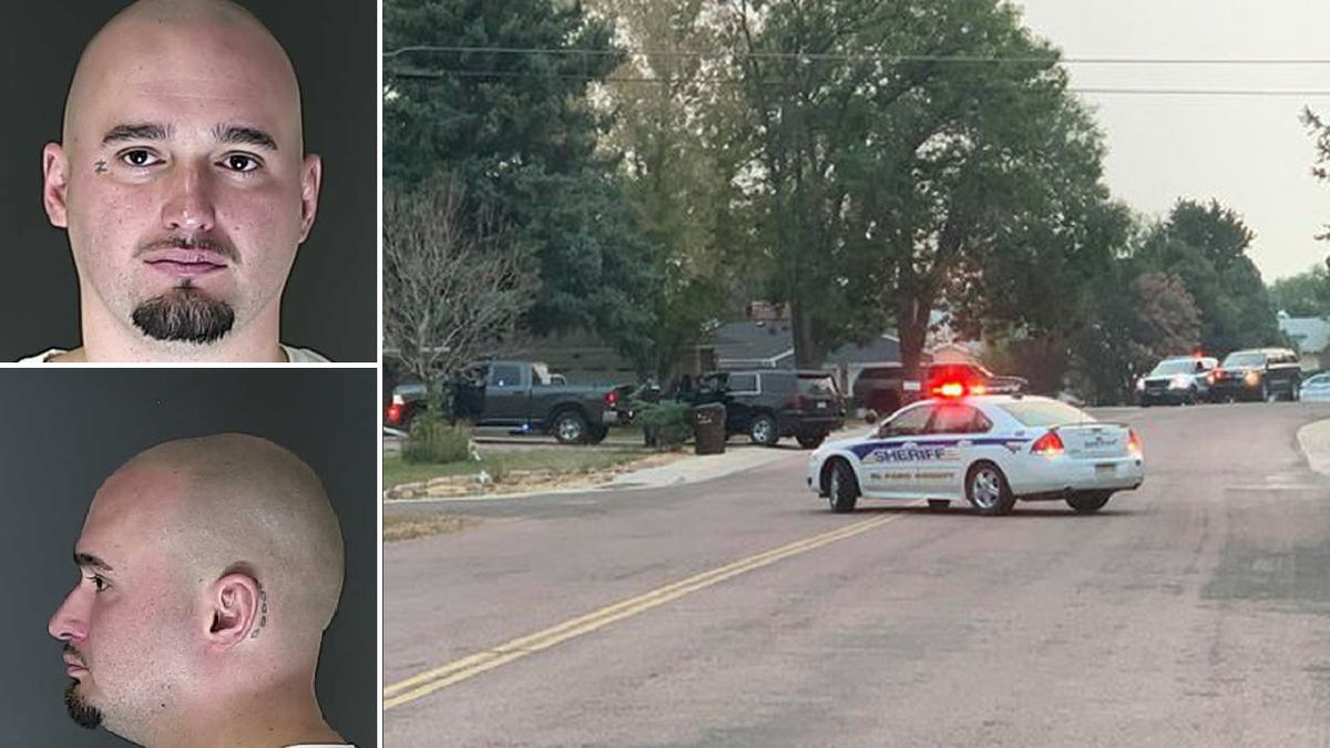 Suspect, 33-year-old Zachary Joseph Brockmann, is pictured on the left. The photos are about two years old. The scene of the shooting is pictured on the right.