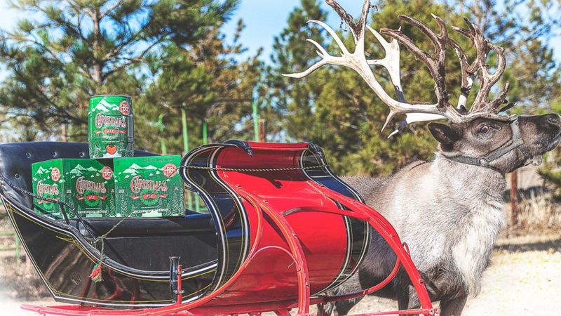 """A """"reinbeer"""" is set to deliver Christmas Ale in Colorado."""