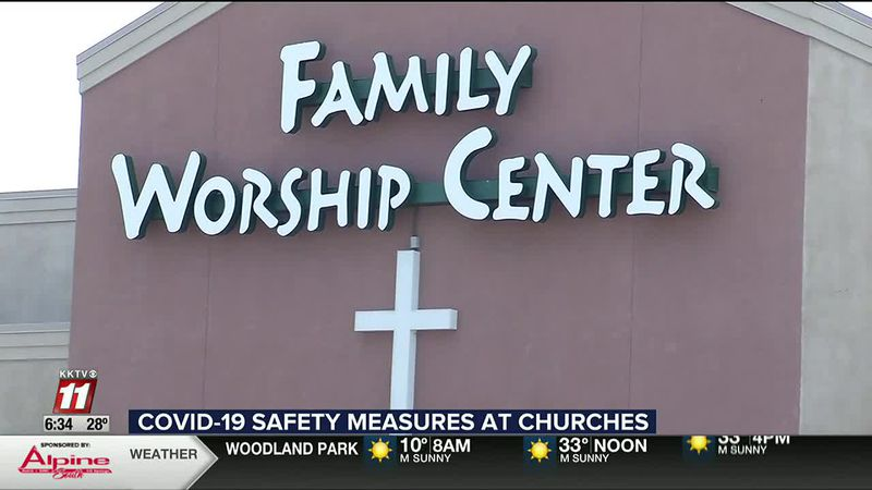Churches continue in person services as businesses face increasing restrictions