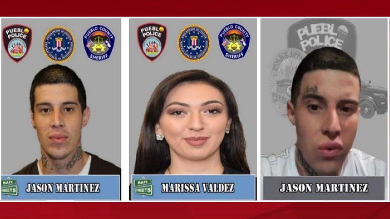 Shooting suspect Jason Martinez and his girlfriend Marissa Valdez.