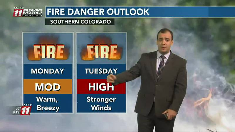 Fire weather conditions to kick off the week