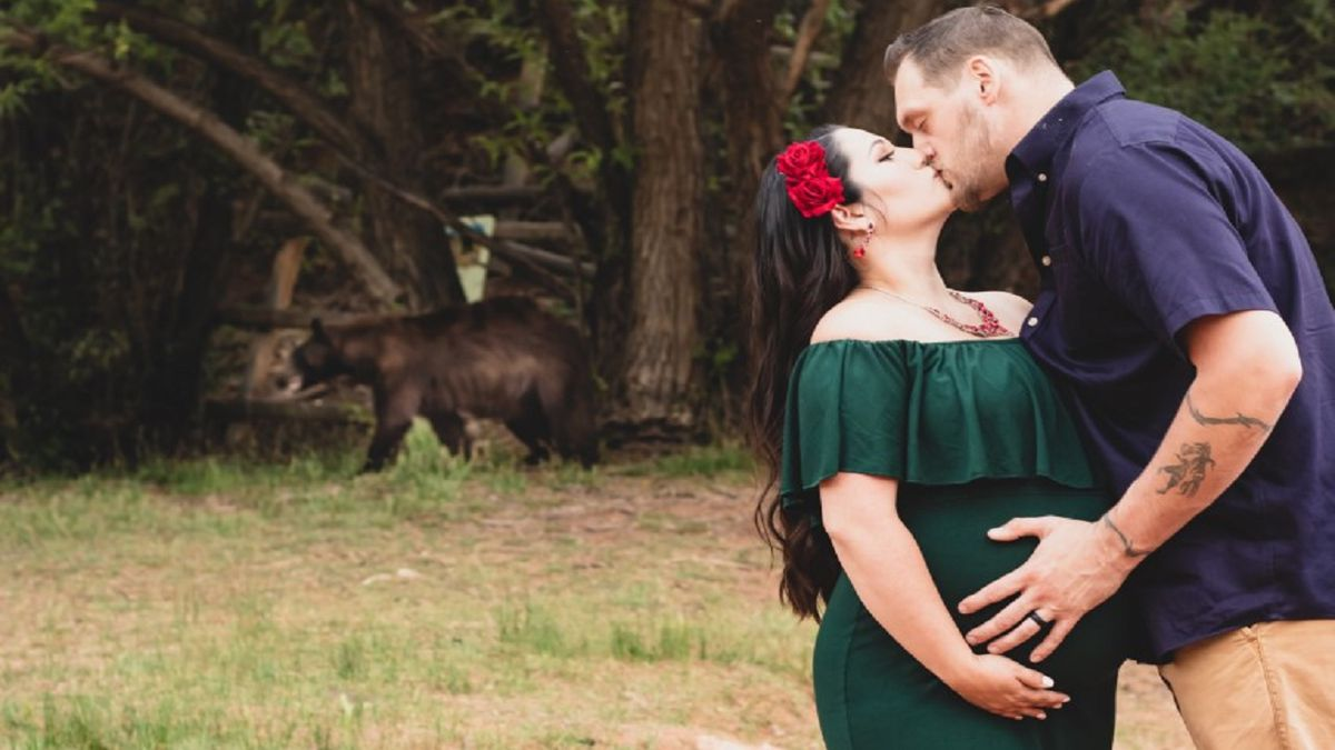 An unexpected visitor dropped in on a maternity photo shoot in Colorado Springs!  Photo...