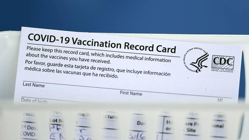 COVID-19 vaccine card FAQs answered  (AP Photo/David J. Phillip)