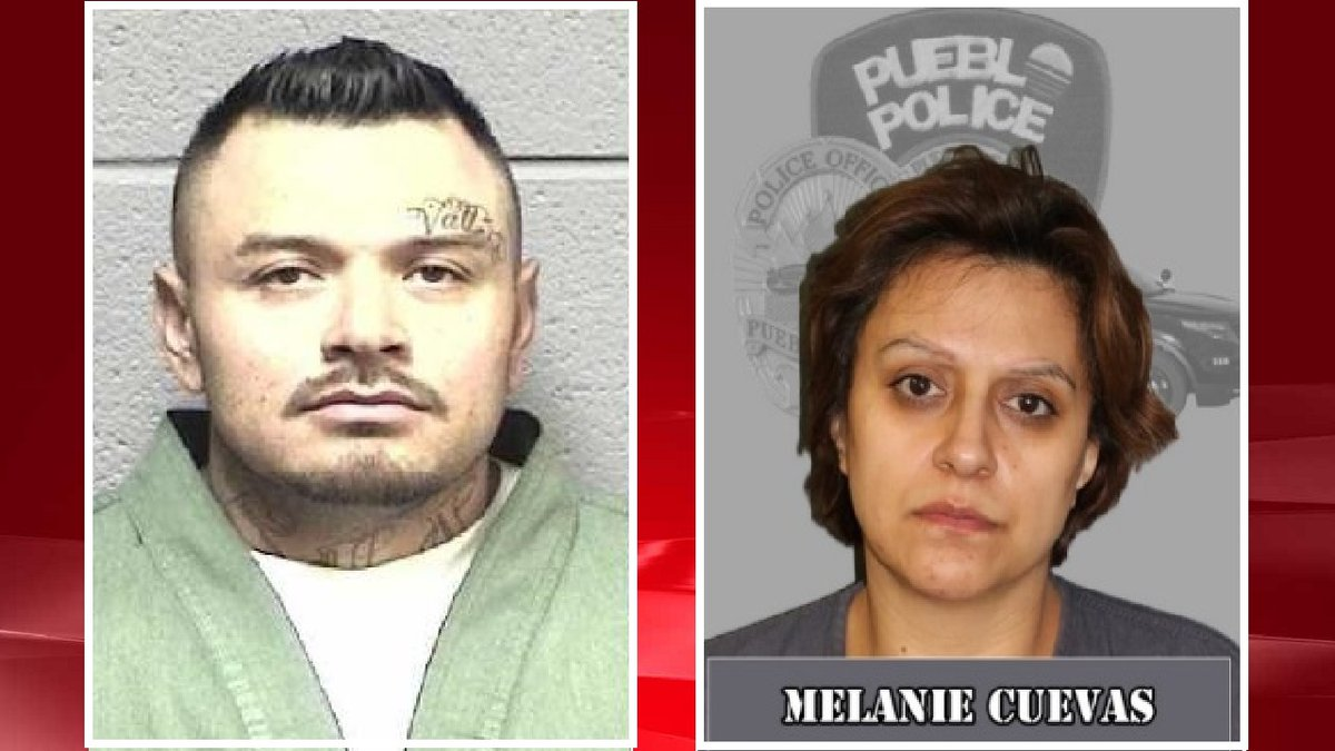 Anthony and Melanie Cuevas.  Photos courtesy Pueblo PD.