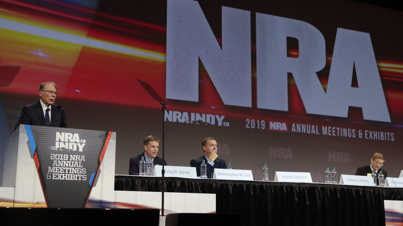National Rifle Association Executive Vice President Wayne LaPierre speaks at the NRA Annual...
