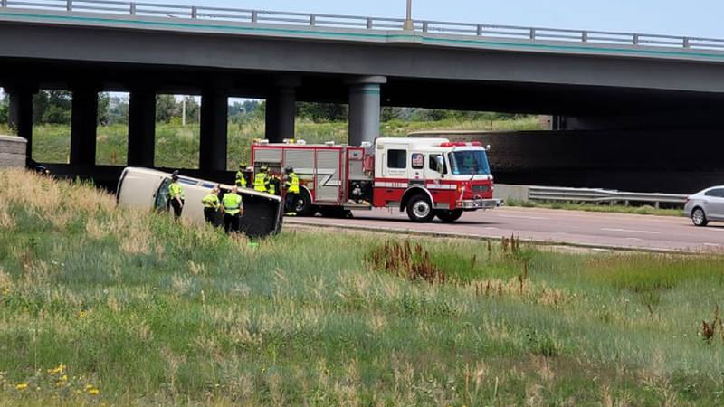According to police, one man is in custody following a sing-vehicle rollover crash near East...