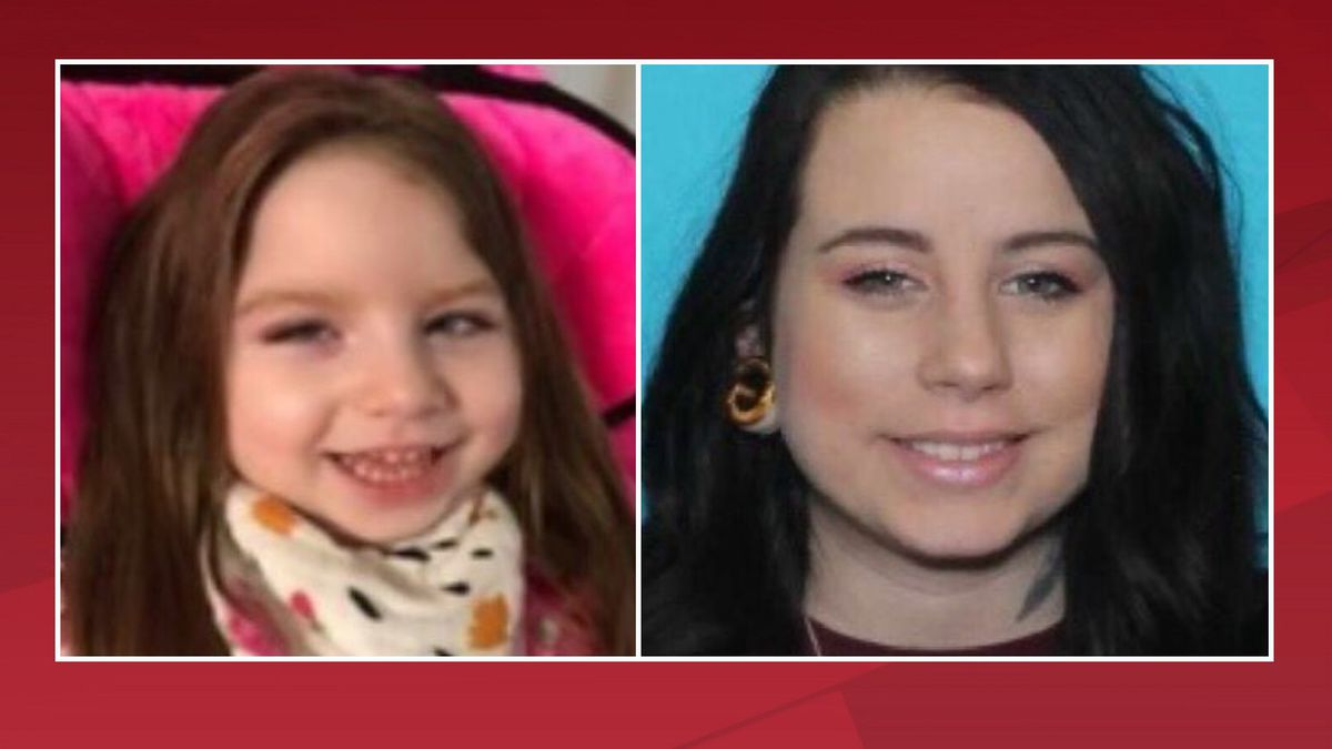 LEFT: Adeline Paige Welch.  RIGHT: Suspect, Maranda Nichols