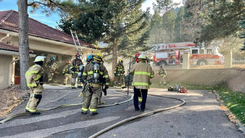 Crews were called to a Broadmoor area for a fire on 10/22/21.
