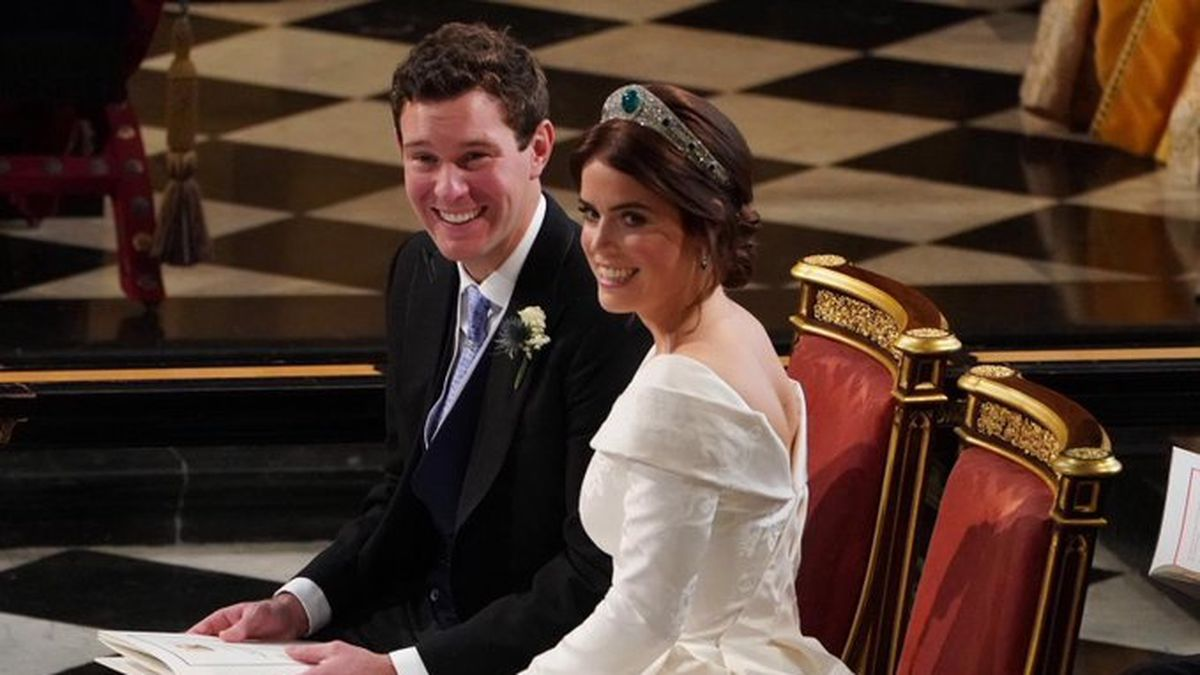 Princess Eugenie, a granddaughter of Queen Elizabeth II, and her husband, Jack Brooksbank,...