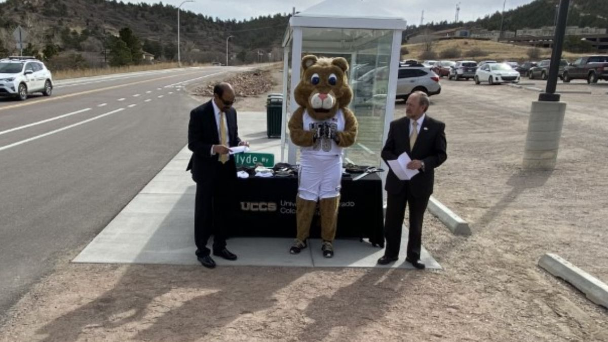 A road named Clyde Way connecting the main UCCS campus to the ENT Center for the arts is now...