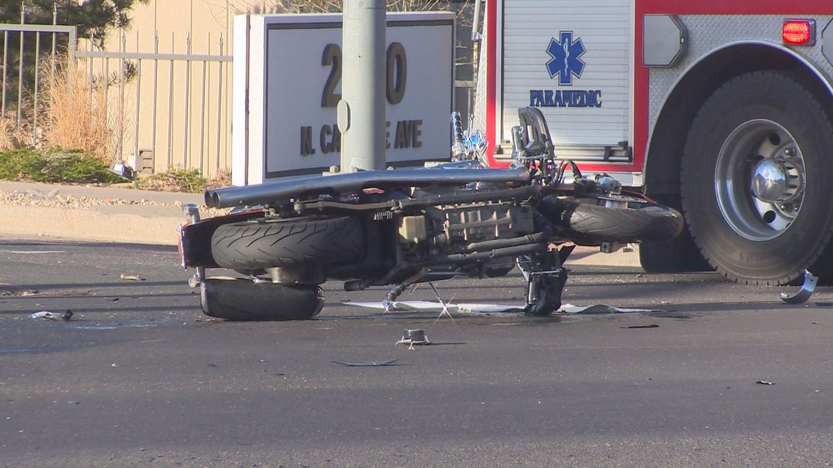 A crash involving a motorcycle on Monday, April 8, 2019, at the intersection of Fillmore and Cascade left a man in critical condition.