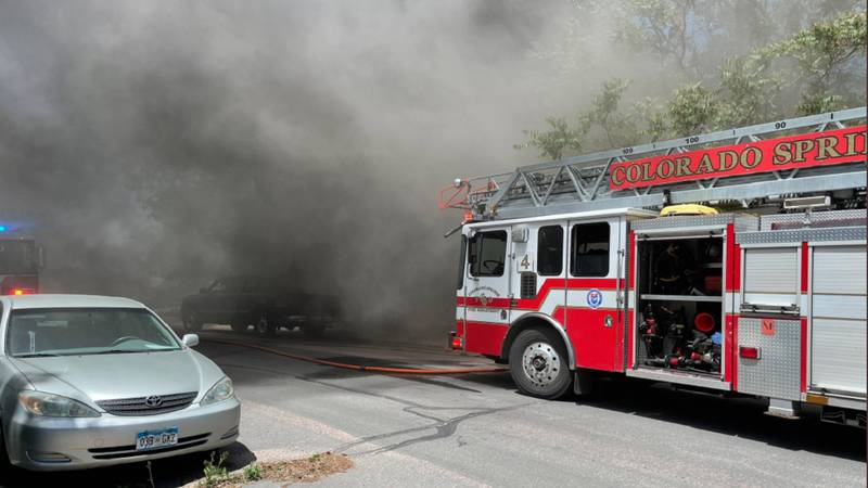 Crews called to a house fire in Colorado Springs on 6/9/21.