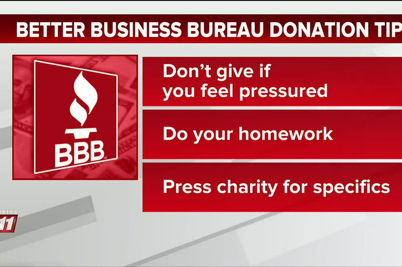 BBB tips to avoid donation scams