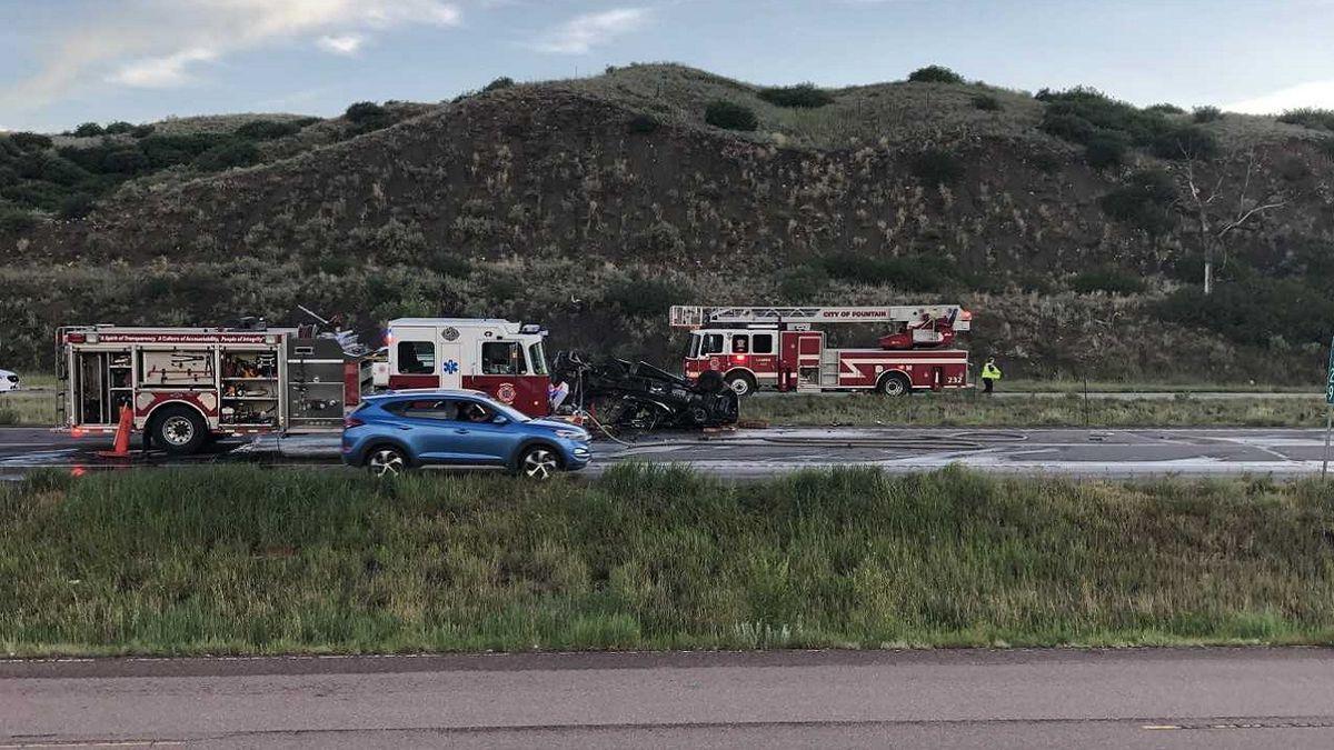 Deadly crash on I-25. 7/16/19.