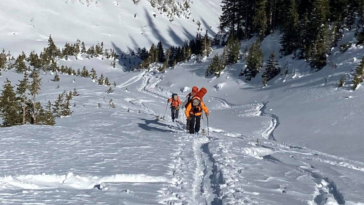 A team consisting of multiple agencies makes the difficult trek to the site of a backcountry...