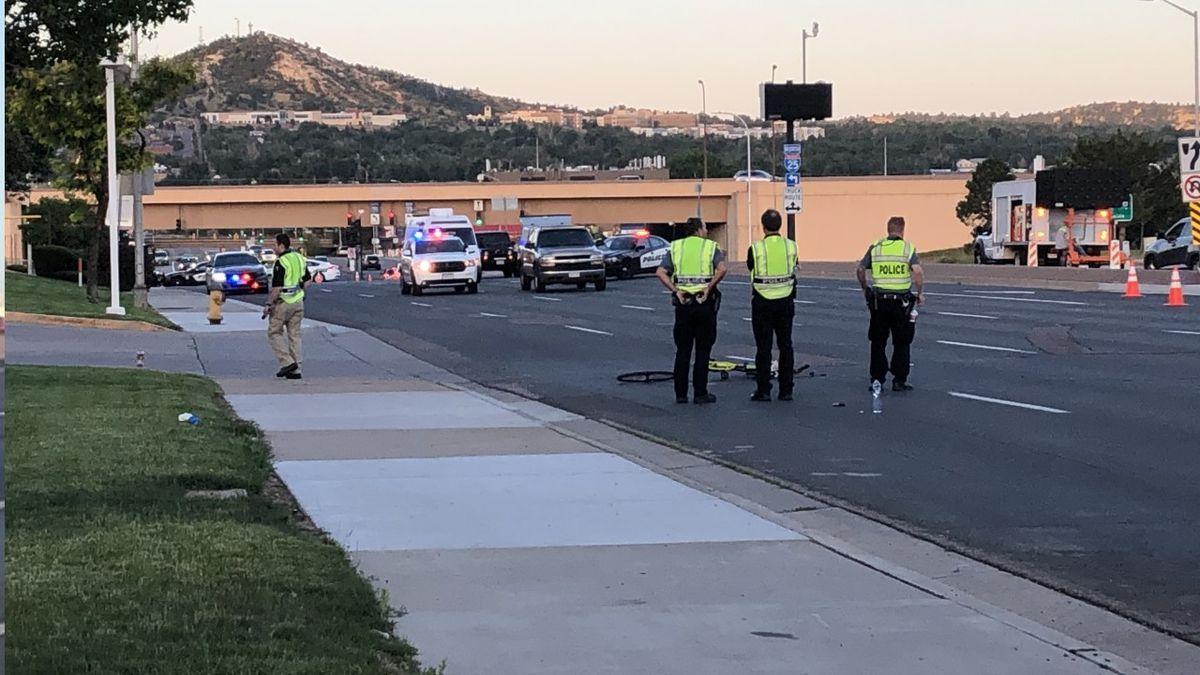 Serious crash involving a cyclist in Colorado Springs 7/2/20.