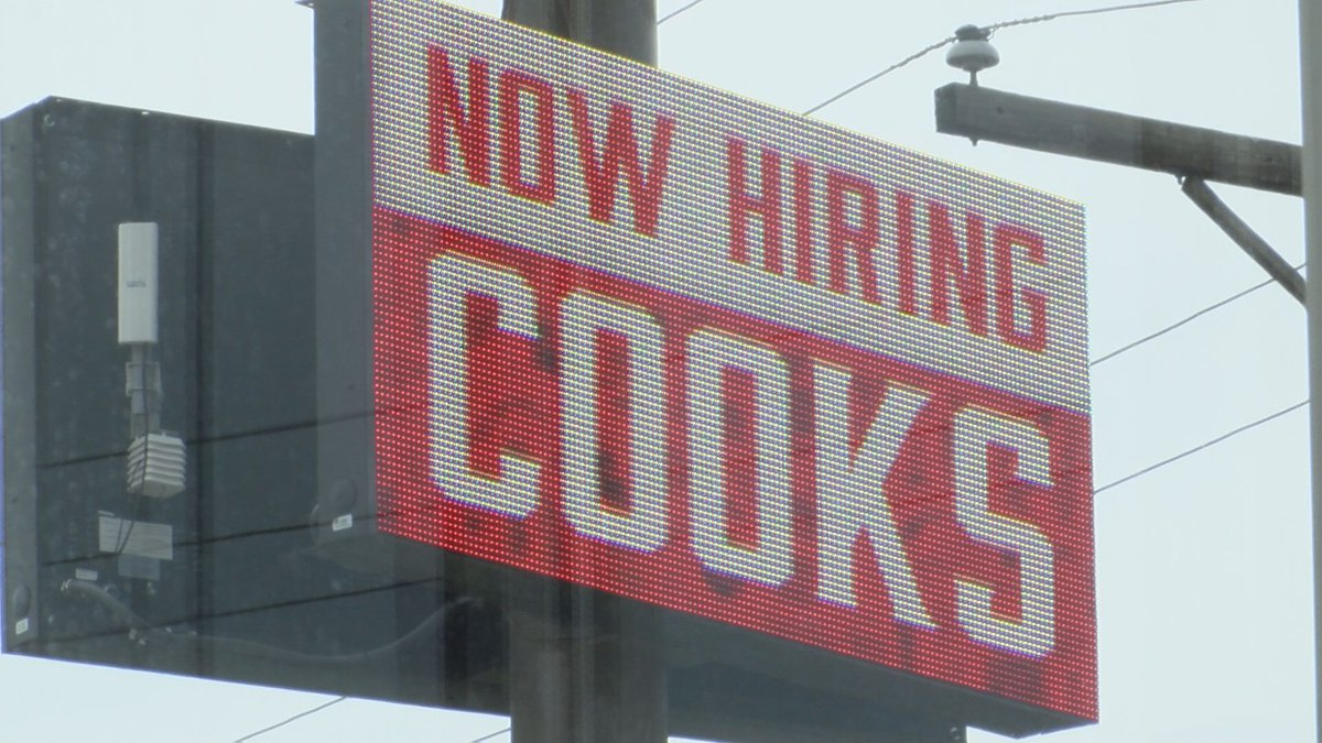 Many businesses in the capital area are opening for the first time and looking for employees.