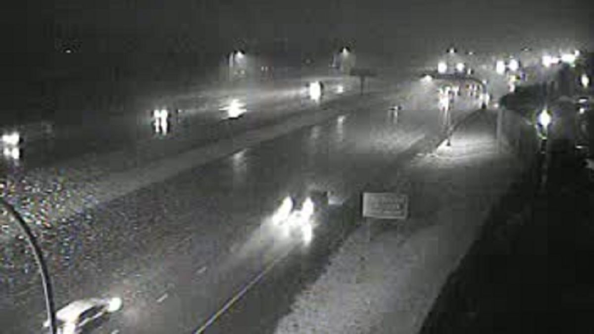 I-25 and Uintah in Colorado Springs at about 6:45 p.m. on 10/23/19.  Photo courtesy the City of Colorado Springs.